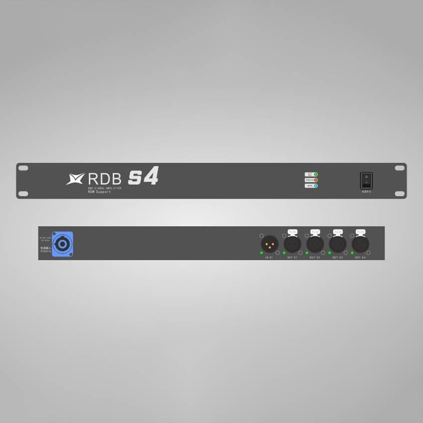华用RDB S4型DMX-512信号放大器-支持RDM远程设备管理
