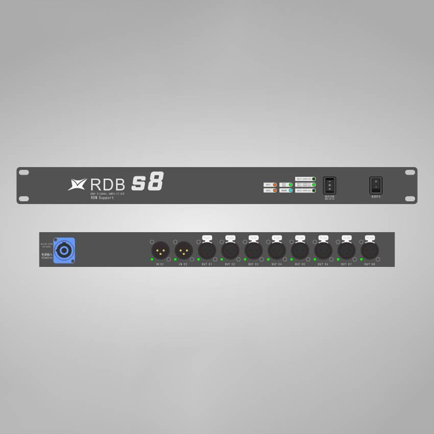 华用RDB S8型DMX512信号放大器-支持RDM远程设备管理