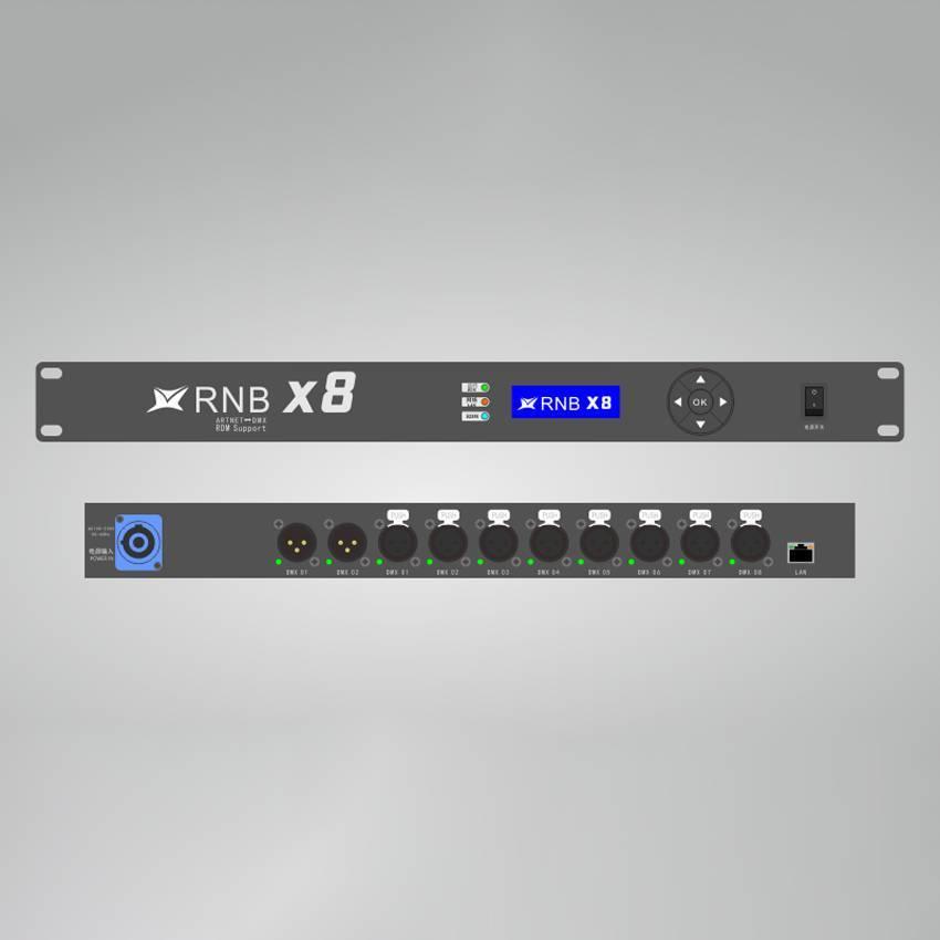 华用RNB X8型Art-Net转DMX512网络扩展器(支持RDM远程设备管理)